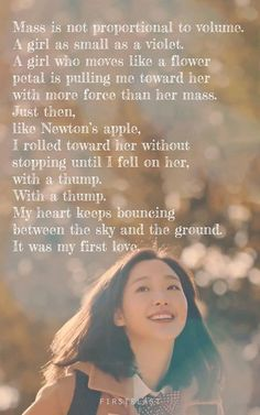 i absolutely love this poem from goblin 'my first love'.