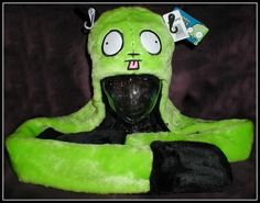 INVADER ZIM/GIR Alien Ears Hat Mitten Scarf Plush SNOOD-NWT-Sold Out Hot Topic!