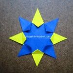 Origami Instruction 8 Pointed Star
