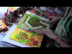 ▶ Art Journal Page with Stencils - YouTube