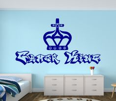 Gamer King design with Xbox controlls embedded in a crown  Wall Sticker/Decal - available in a great range of colours!