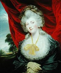 Marchioness of Hertford was an English courtier and mistress of King George IV when he was Prince of Wales,  she became George's mistress in 1807. Lady Hertford's relationship with the Prince, now Prince Regent, ended in 1819, when he turned his attentions to Elizabeth Conyngham, Marchioness Conyngham.