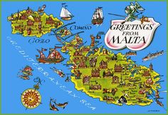 Malta tourist map