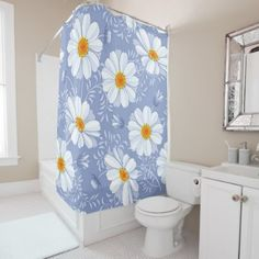#white - #White Flowers Shower Curtain