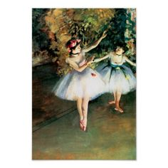 Two Dancers on a Stage by Degas Posters