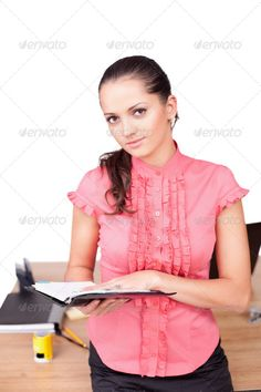 beautiful young business woman taking notes at the office ...  administrator, adult, beautiful, beauty, brunette, business, businesswoman, caucasian, cheerful, confidence, confident, consultant, corporate, cute, desk, document, elegance, expertise, female, friendly, girls, hands, happy, intelligence, job, lady, looking, manager, modern, note, notebook, office, only, paper, people, person, pretty, professional, receptionist, red, secretary, service, success, white, woman, worker, young