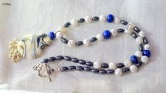 Lampwork Agate and Hematite necklace set