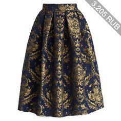 Chicwish Glorious Baroque Midi Skirt