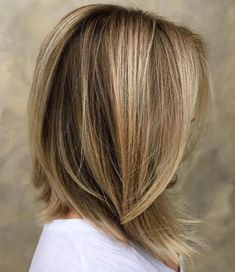 Blonde Collarbone Length Cut