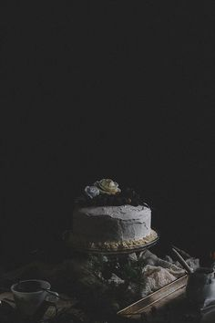 Blackberry Dark Chocolate Avocado Cake with Swiss Meringue Rose Water | TermiNatetor Kitchen | A Midwest-based food and photography blog