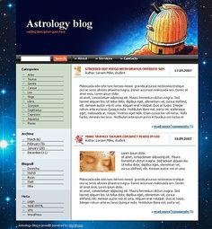 Astrology Weblog WordPress Themes by Di