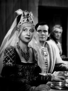 """Costumes of the French movie """"Les visiteurs du soir""""  ( Marcel Carné, 1942)"""