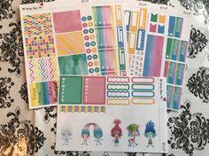 Trolls Design Your Life Planner Stickers