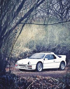 """The Ford was a real rally car with a great suspension, perfect for rough conditions. The whole transmission system was, like the honeycomb chassis, ahead of its time. Despite the mid-engine concept it was not at all tricky to drive."" - Malcolm Wilson about the Ford RS200."