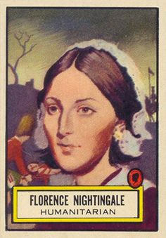 1952 Topps Look 'N See Florence Nightingale Non-Sports Card Florence Nightingale, Price Guide, Rest In Peace, Baseball Cards, Learning, Sports, Siri, Nurses, Trading Cards