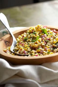 Fresh corn salad with summer herbs