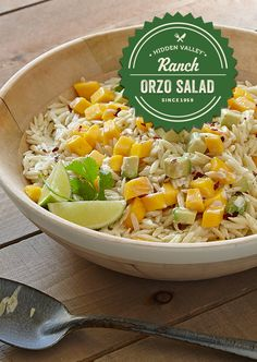 Just in time for summer, this light tasting orzo salad will be a hit ...