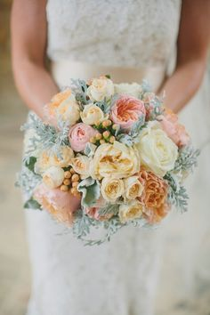 Pastel orange bouquet