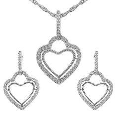 CZ Studded Brass Pendant, Earrings Set with Chain #indiapokemongo #pokemongoplus #beauty #selfie