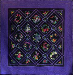Violet Delights by Pamela Brockwell. 2012 show, Quilters Guild of NSW (Australia)