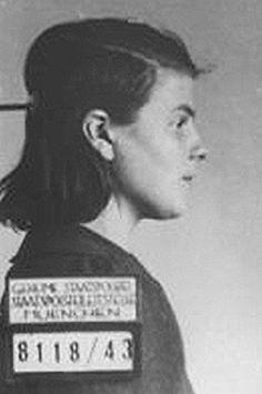 Sophie Scholl 1943, arrest picture.
