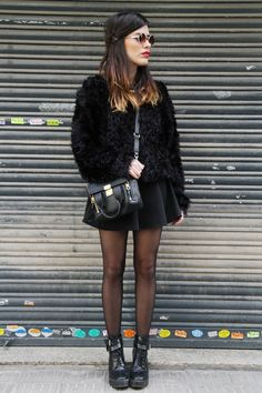 Good black basics comprise a great travel outfit. This could be dressed up or down. Super cute.