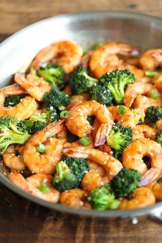 Sauté de crevettes et de brocoli...un repas de moins de 300 calories…