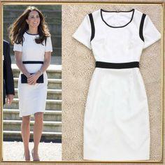 Short Sleeve Princess kate middleton 2014 High Quality Desigual Dress Women 2014 European and American Dresses T135195 US $43.47