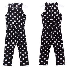 Jumpsuits becoming much more elegant with polka dots side pockets and open back style. All sizes still available from www.halotots.com #halotots #fashionkids #fashionista #mummysboy #babyswag #trendykids #babylove #tutu #kidstrends #tutuskirt #mummysgirl #kidsfashion #kids #littlelady #babymodel #toddlerlife #babygirl #babyboy #babylife #ukbaby #cutekidsclub #family #jumsuit #polkadot #black