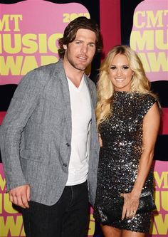 Mike Fisher and Carrie Underwood arrive at the 2012 CMT Music Awards at the Bridgestone Arena in Nashville on June 6, 2012.