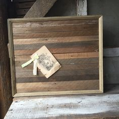 Memo board  handmade Reclaimed lath and by SaffronColoredPony #vintageoffice