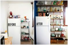 Try Open Shelving - It can offer a ton of flexible storage.