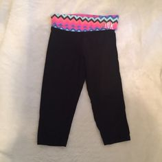 VS PINK yoga capris with chevron  vs pink yoga capris  Gently used some fading from washing and missing some stones on the link, price according to condition Please ask for additional pictures, measurements, or ask questions before purchase. No trades or other apps Ships next business day, unless noted in my closet  Five star rating Bundle for discount PINK Victoria's Secret Pants