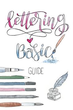 Lettering Basic Guide mit praktischen Tipps & Tricks Lettering Basic Guide with Tips & Tricks fo Hand Lettering For Beginners, Calligraphy For Beginners, Hand Lettering Tutorial, Hand Lettering Practice, Hand Lettering Alphabet, Calligraphy Practice, Brush Lettering, Lettering Guide, Lettering Ideas