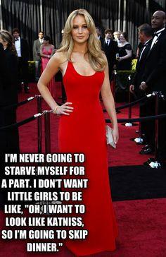 Jennifer Lawrence on body positivity. #health #bodypositivity