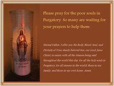 It's November - pray for the souls in Purgatory! http://designsbybirgit.blogspot.com/