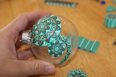 zentangle ornament  from Polymer Clay Workshop
