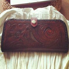Handmade leather wallet by Buffalo Girl