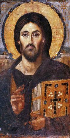 Icoana Mântuitorului Iisus Hristos Pantocrator de la Mănăstirea Sfânta Ecaterina din Sinai,Egipt