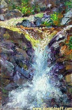 $80 Tuolumne Falls, 6x4, oil on panel