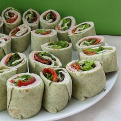 """Ham and Fresh Basil PinwheelsI """"Very easy! Went over really well at a football party!"""""""