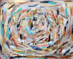 """Life is full of breakthroughs and with art it's the same thing. This painting is titled """"The Next Level"""", since with this painting I did just that. It's """"The Paradox"""" painted in neutral hues. Multicolored abstract neutral hues painting."""