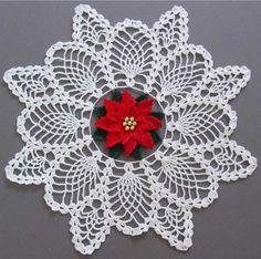 Maggie's Crochet · Poinsettia Pineapple Doily Crochet Pattern