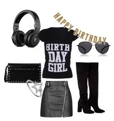 """""""Rocking Birthday Set!"""" by birthdaygirlworld ❤ liked on Polyvore featuring Topshop, Valentino, KC Designs, The Row and Anouki"""