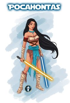 Fourth Jedi Disney Princess: Pocahontas. Pocahontas (C) Disney Drawing (C). Disney Fan Art, Disney Girls, Disney Love, Disney Magic, Disney Pocahontas, Princess Pocahontas, Princess Aurora, Disney Star Wars, Disney Stars