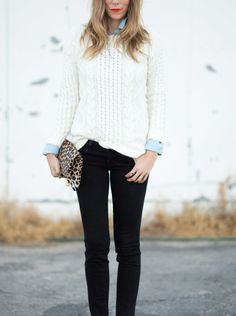 Sweater and black jeans: http://www.stylemepretty.com/vault/search/images/fall%20fashion