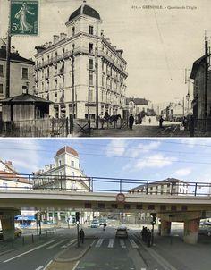 Quartier de l'Aigle Grenoble, sur cette photo on voit l'estacade construite
