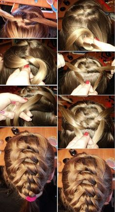 Knotted Braid, Unique and creative different Kind of Braids. | http://makeuptutorials.com/9-the-best-braided-hairstyles/
