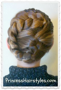 "special occasion updo tutorial, ""swirling braids"""