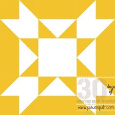 This easy Amish Star Squared Quilt Block is made from flying geese and half square triangles. The quilt block pattern these create is, as the name suggests, boxy and square. The star block shown here is sewn from white and mustard-colored fabric. When these blocks are sewn together, new patterns begin to emerge.